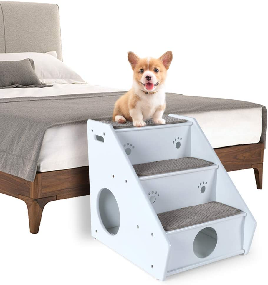 Petsfit 3 Steps Wooden Dog Stairs Pet Supplies