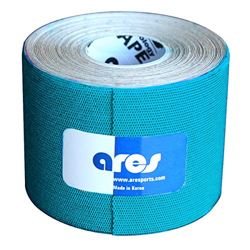 Ares Kinesiology Synthetic Extreme Tape Metallic Blue 2 Inches x 16.5 Feet by ARES Kinesiology Tape
