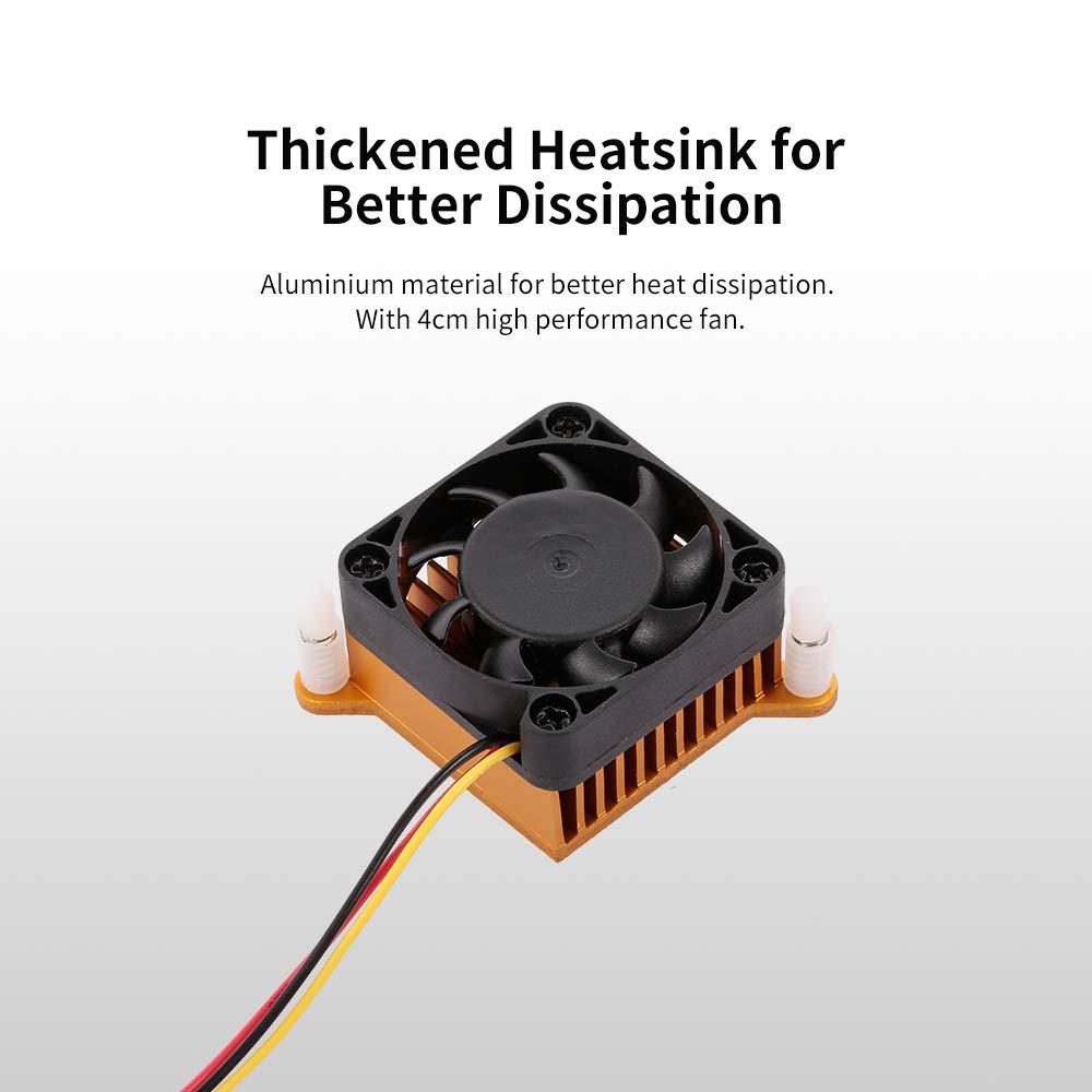 Docooler Motherboard South//North Bridge Heatsink Fan Aluminium Heat Sink 4cm Fan