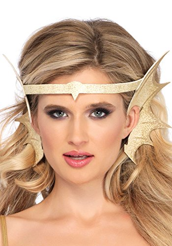 Leg Avenue Women's Glitter Mermaid Costume Fin Accessory, Gold, One-Size