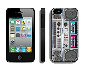 Unique Phone Protective Cases for Iphone 4 Iphone 4s Black Cover Boombox Designer Popular Mobile Accessories