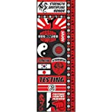 "Reminisce Signature Series Cardstock Combo Sticker 4.25 by 12"", Martial Arts"