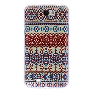 Alfombra Caso duro del patrón colorido para Samsung Galaxy Note N7100 2