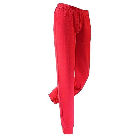 21b89056271f iside Pigiama Donna Caldo Cotone Interlock Misure M-L-XL-XXL Colore Rosso  80205: Amazon.it: Abbigliamento
