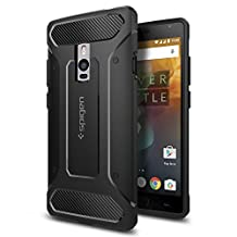 OnePlus 2 Case, Spigen Rugged Armor - Resilient Shock Absorption and Carbon Fiber Design for OnePlus 2 - Black