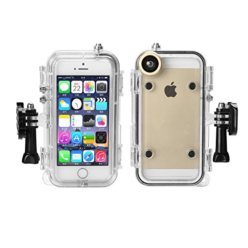 online retailer a02c8 39e6f Underwater case Extreme Sports Waterproof Case for iPhone 5 5s SE Perfect  for Surfing, Boating, Skiing, Bicycle