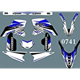DST0741 3M Custom Motorcross Stickers Motorcycle Decals Graphics Kit for YAMAHA WR250R 2008 2009 2010 2011 2012 2013 2014 2015