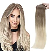 Full Shine Remy Clip in Extensions 18 Inch Clip in Hair Extensions Seamless Weft Color 8 Ash Brow...