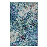 Mohawk Home Z0137 A416 060096 EC Art Explosion Multicolored Abstract Marble Precision Printed Area Rug, 5'x8′, Blue