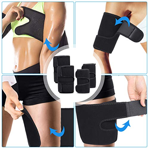 OUTERDO Arm and Thigh Trimmers for Women & Men(4 Piece Kit) Body Exercise Wraps Adjustable to Lose Fat Reduce Cellulite and Improve Sweating, Slimmer Kit-Toned Muscles Natural Fat Burning 5