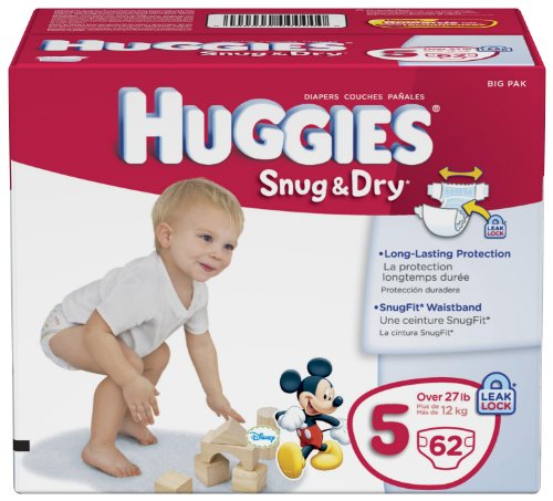 Huggies Snug Diapers Size Count