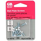 Gardner Bender 14-WPW Wallplate Screws (White)