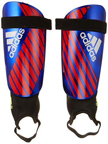 adidas X Reflex Shinguard, Bold Blue/Active Red/Silver Met, Large