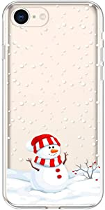 "Case for iPhone 6S Plus Christmas, Slim Protective Silicone Clear TPU Case for 5.5"" iPhone 6 Plus/iPhone 6S Plus, Cell Phone Ultra Thin Flexible Soft Gel Transparent Back Skin Cover Snowman Pattern"