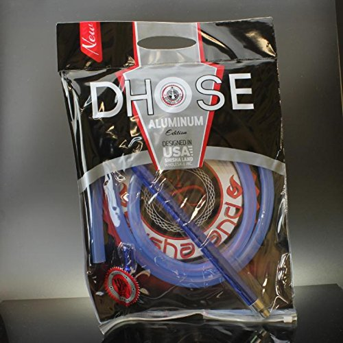 d-hose Pipa de manguera lavable, aluminio 182,9cm de silicio (Azul) Plus Carbón vegetal y Foil