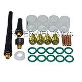 TIG Gas Lens Collet Body & #10 Pyrex Cup Kit DB SR WP 9 20 25 TIG Welding Torch 26pcs