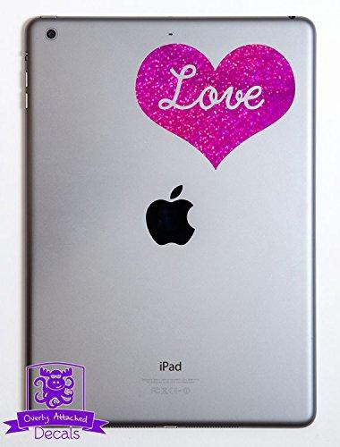 Love Heart iPad Specialty Vinyl Decal - Purple Metal Flake (Pretty Tweens)
