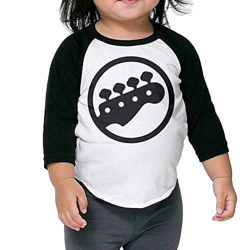 Hanxiaoxiao Kid Bass Tuning PEGS Humor Uniforms Black Cute T Shirt 3 Toddler Crew Neck 1/2 Sleeve Raglan T-Shirt