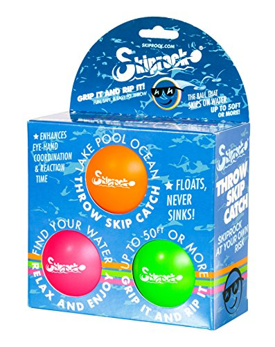 Ball Water Games - Skiprock Game (3 Pack)