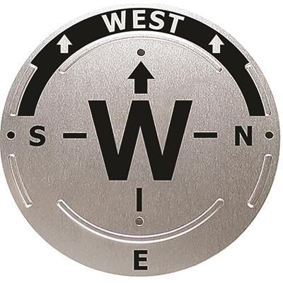 """Trailite Trail Direction Marker, WEST - Sign to Help Guide in the Proper Direction, 4.5"""" Diameter Circle"""