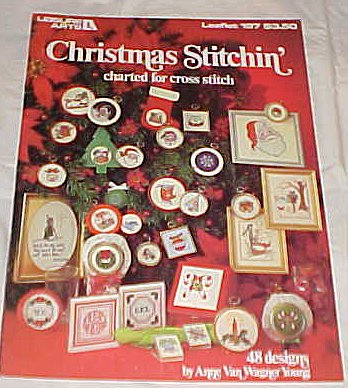 Christmas Stitchin' Charted for Cross Stitch (48 Designs) By Leisure Arts Leaflet 152 Craft 1981