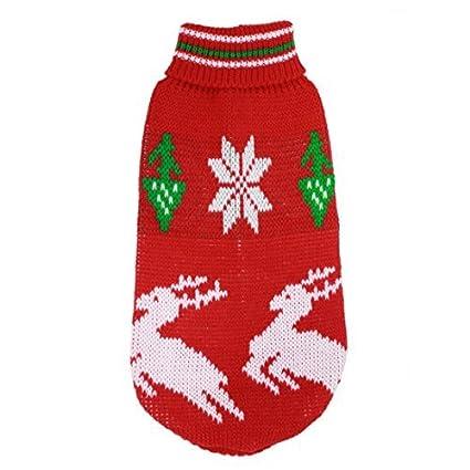 eDealMax acanalado mascotas Manguito de Cuello Alto suéter de la prendas de Vestir, X-