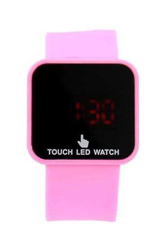 Reloj de mujer - SODIAL(R)Colorido unisexo LED Digital pantalla tactil Reloj de pulsera de silicona Rosado: Amazon.es: Relojes