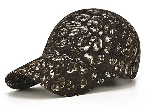 Leopardo Cuero Hombres Béisbol de de Sombrero de Cabra Gorra Invierno de Piel Ajustable Roffatide q5CzxHH