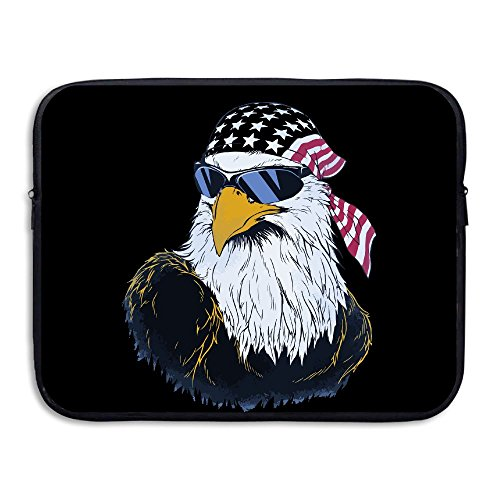 13/15 Inch Us Bald Eagle Sunglasses Double Sided Printing LAPTOP SLEEVE Notebook Bag Computer/Laptop Sleeve Computer - Sunglasses Men For Bald