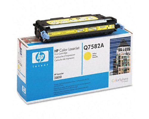 Hewlett Packard HP 503A Color Laserjet 3800, CP3505 ColorSphere Smart Print Cartridge, Yellow (6,000 Yield) , Part Number Q7582A