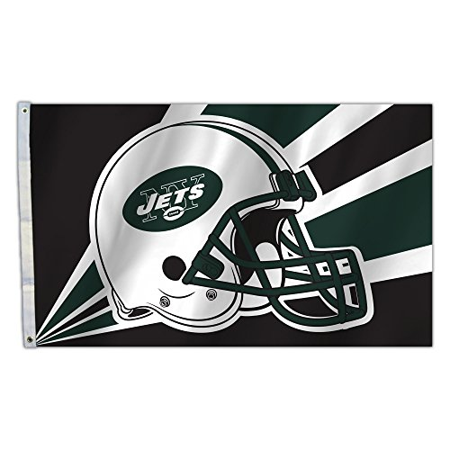 NFL New York Jets 3 by 5 Foot Flag (Ny Jets Games)