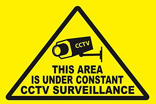 CCTV...This Area Under CCTV Surveillance...- SECURITY SIGN- #PS-435 from Great American Signs