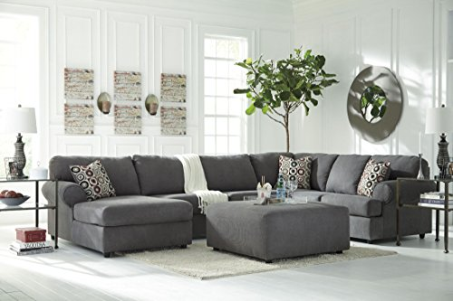 Signature Design by Ashley 6490208 Jayceon Steel - Oversized Accent Ottoman by Signature Design by Ashley