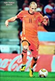 J-4126 Arjen Robben Holland Netherlands Football Team Soccer Sport Wall Decoration Poster Size 23.5