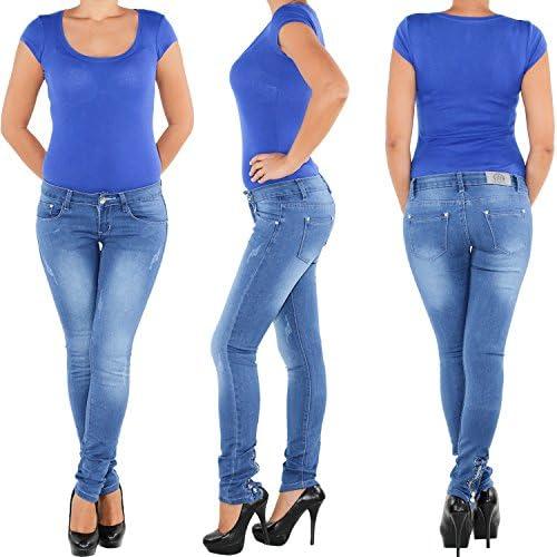 511 Damen Skinny Röhrenjeans mit Rissen Hüftjeans  Röhren jeans Hose Röhre