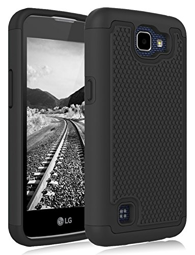 LG Rebel LTE Case, LG Optimus Zone 3 Case, LG Spree Case, LG K4 Case, Jeylly Shock-Absorption Dual Layer Defender Protective Case Cover for LG K4 LTE/LG Spree/LG Rebel LTE/LG Optimus Zone 3 Black