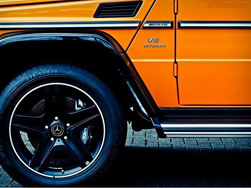 Mercedes Benz Wheel Center Caps - Set of 4 - New - Black - 75mm /3 Inch - MB Wheels Center Cap - Mercedes Benz Wheel Caps – Mercedes Center Caps - Mercedes Wheel Caps - Mercedes Benz Center Wheel Caps by Preteum (Image #5)