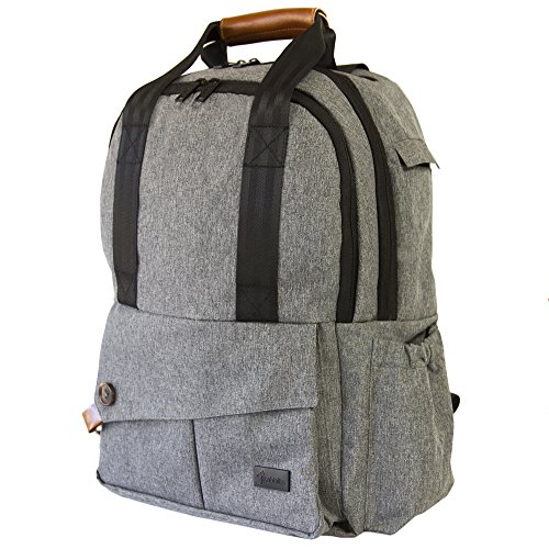 9 Rabbits Diaper Bag Backpack, Stylish Multi-Function Waterproof Smart Organizer Baby Back Pack, Large Capacity, Perfect For Travel With Adjustable Shoulder Straps and Wipeable Infant Changing Pad by 9 Rabbits