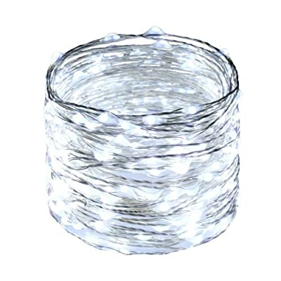 20Feet Fairy Lights Fairy String Lights Battery Operated 120 LED String Lights Waterproof 8 Modes Twinkle and Timing,Starry String Lights for Wedding Party Event Floral Applications