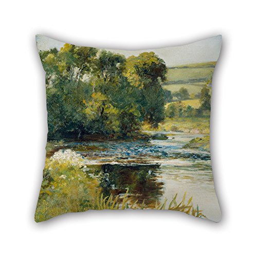 Elegancebeauty 18 X 18 Inches / 45 By 45 Cm Oil Painting Edward Mitchell Bannister - Streamside Christmas Pillow Shams Two Sides Is Fit For Divan Chair Gril Friend Office Outdoor Wedding