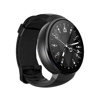 WETERS Reloj Inteligente De La Red Completa Reloj 4G Reloj De Frecuencia Cardíaca De La Memoria 1G + 16G,Black: Amazon.es: Deportes y aire libre
