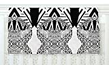 KESS InHouse Pom Graphic Design ''Africa'' Black White Fleece Baby Blanket, 40'' x 30''