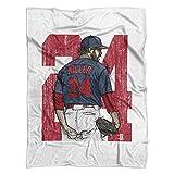 500 LEVEL's Andrew Miller Soft And Warm Fleece Blanket For Cleveland Baseball Fans - Andrew Miller Sketch BR