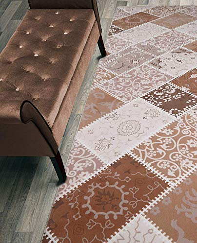 - ORFA HOME Custom Size Hallway Runner Rug, Slip Resistant, 31 inch Wide X Your Choice of Length, Patchwork, 31 inch X 35 feet