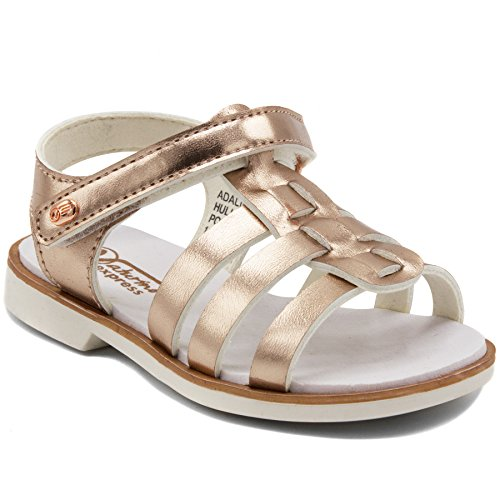 Naturino Express Adalina Cute Water Repellant Sandal Lightweight EVA Bottom-Adalina-Rose Gold-12