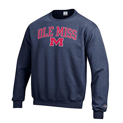 Sweatshirt Ribbed Rebels - Elite Fan Shop Mississippi Ole Miss Rebels Crewneck Sweatshirt Varsity Navy - XL