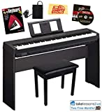 Yamaha P-45 Digital Piano Bundle with Yamaha L-85 Stand, Furniture-Style Bench, Sustain Pedal