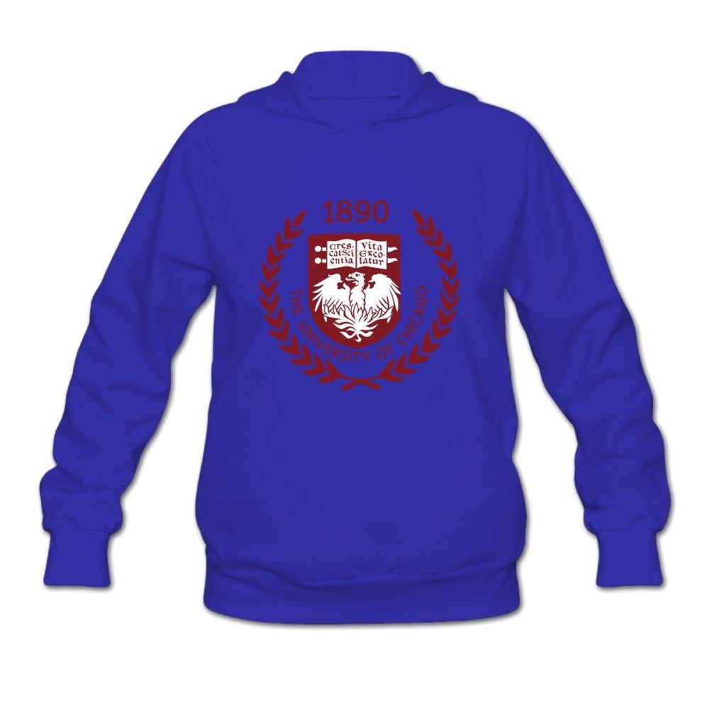 QTHOO Women's The University of Chicago Established 1890 Long Sleeve Hooded Sweatshirt