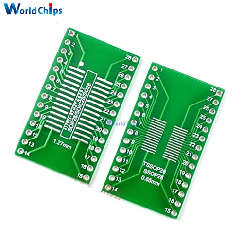 Muccus 5PCS SSOP28 SOP28 TSSOP28 to DIP28 Adapter Converter PCB Board 0.65//1.27mm