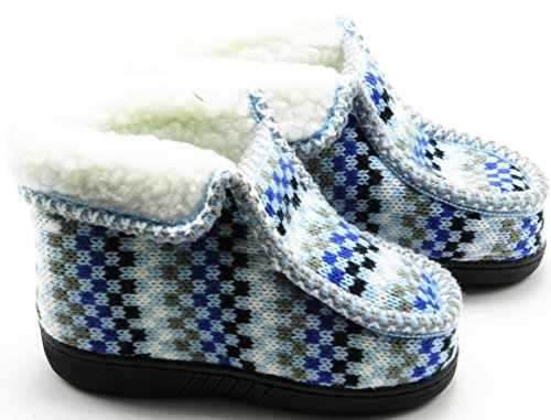 Toddler Baby Winter Fleece Fur Snow Ankle Slip on Soft Slipper Boot Shoes Blue UjON0JfS